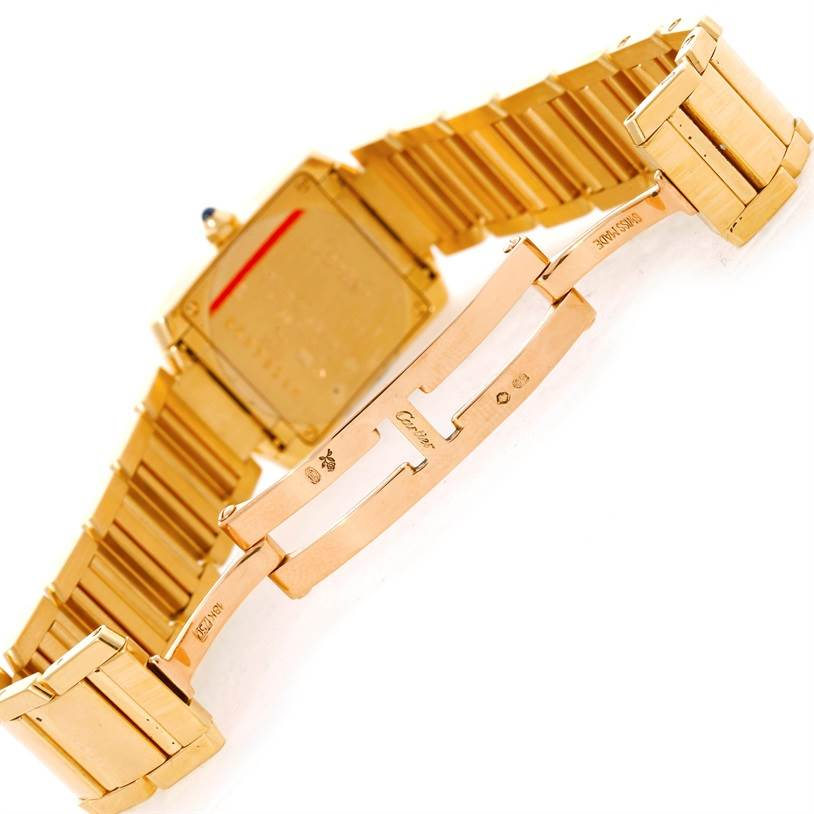 9269 Cartier Tank Francaise Small 18k Yellow Gold Watch W50002N2 SwissWatchExpo