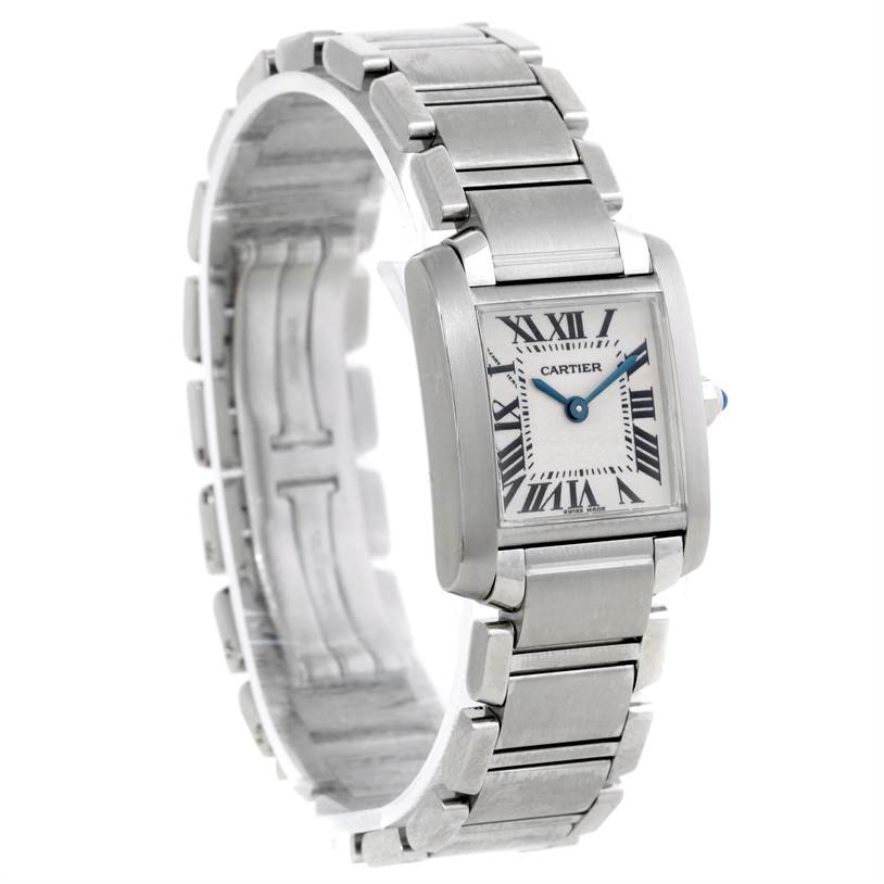 8597 Cartier Tank Francaise Small Stainless Steel Watch W51008Q3 SwissWatchExpo