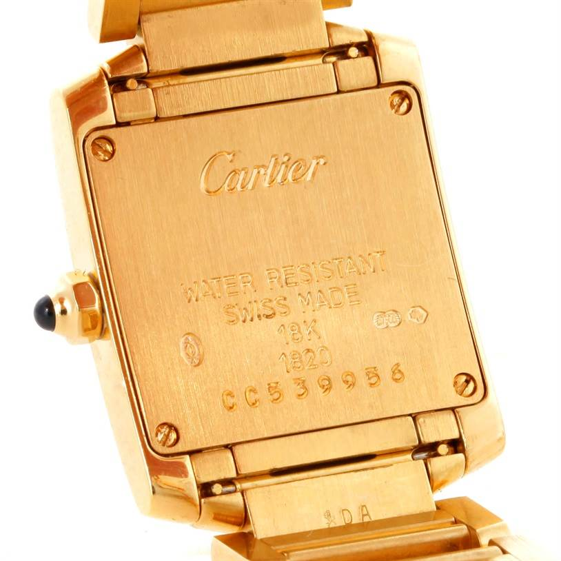 9324 Cartier Tank Francaise Small 18k Yellow Gold Watch W50002N2 SwissWatchExpo