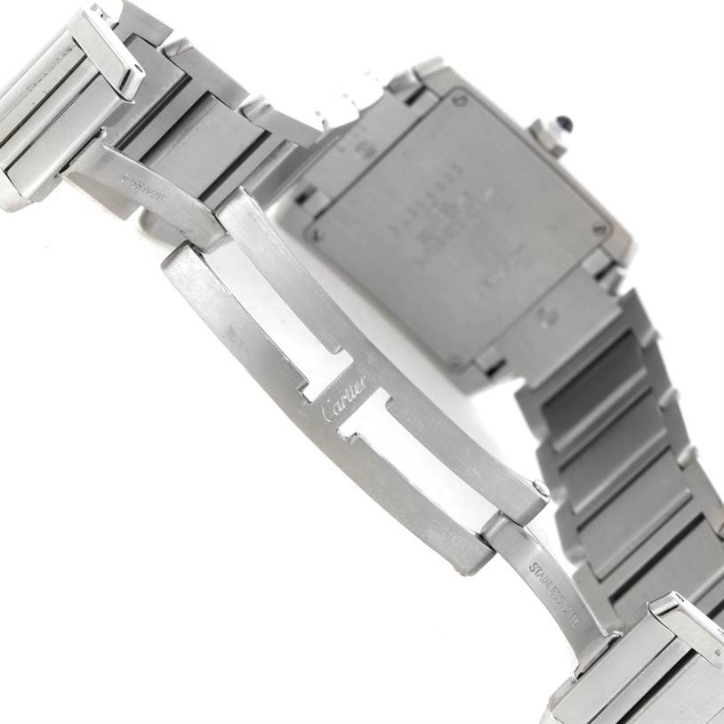 7222 Cartier Tank Francaise Midsize Nondate Stainless Steel Watch WSTA0005 SwissWatchExpo