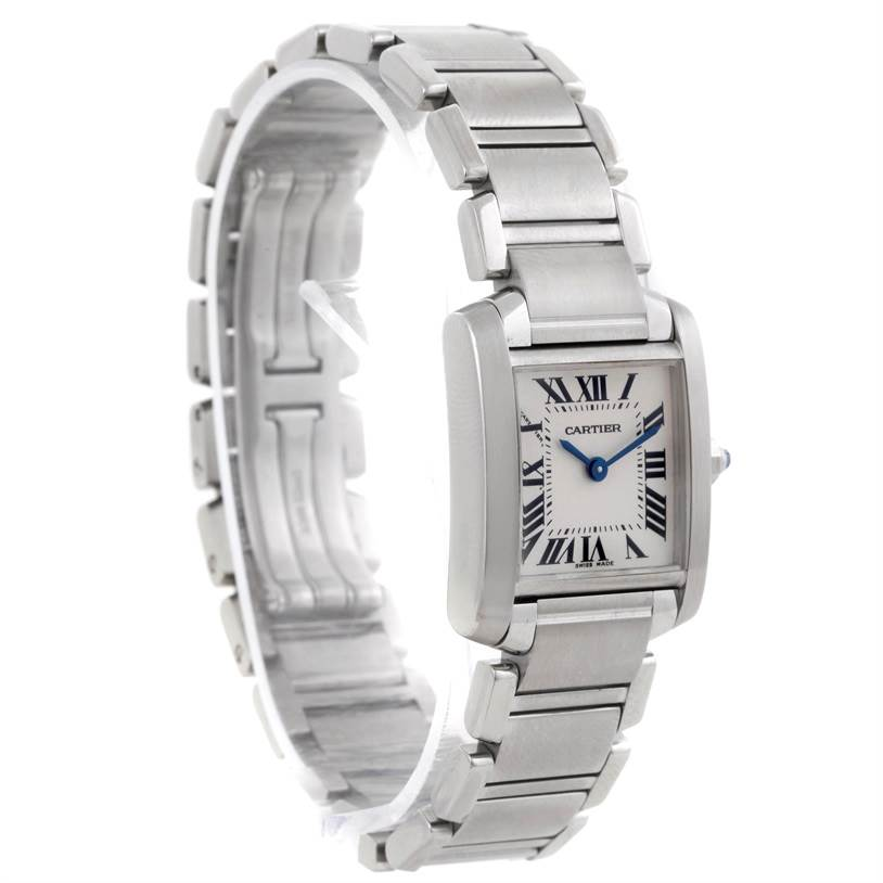 8346 Cartier Tank Francaise Small Stainless Steel Watch W51008Q3 SwissWatchExpo