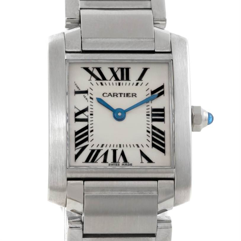 9372 Cartier Tank Francaise Small Stainless Steel Watch W51008Q3 SwissWatchExpo