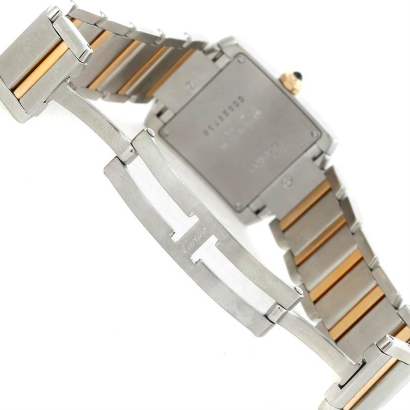 9395 Cartier Tank Francaise Midsize Steel 18k Gold Watch W51012Q4 SwissWatchExpo