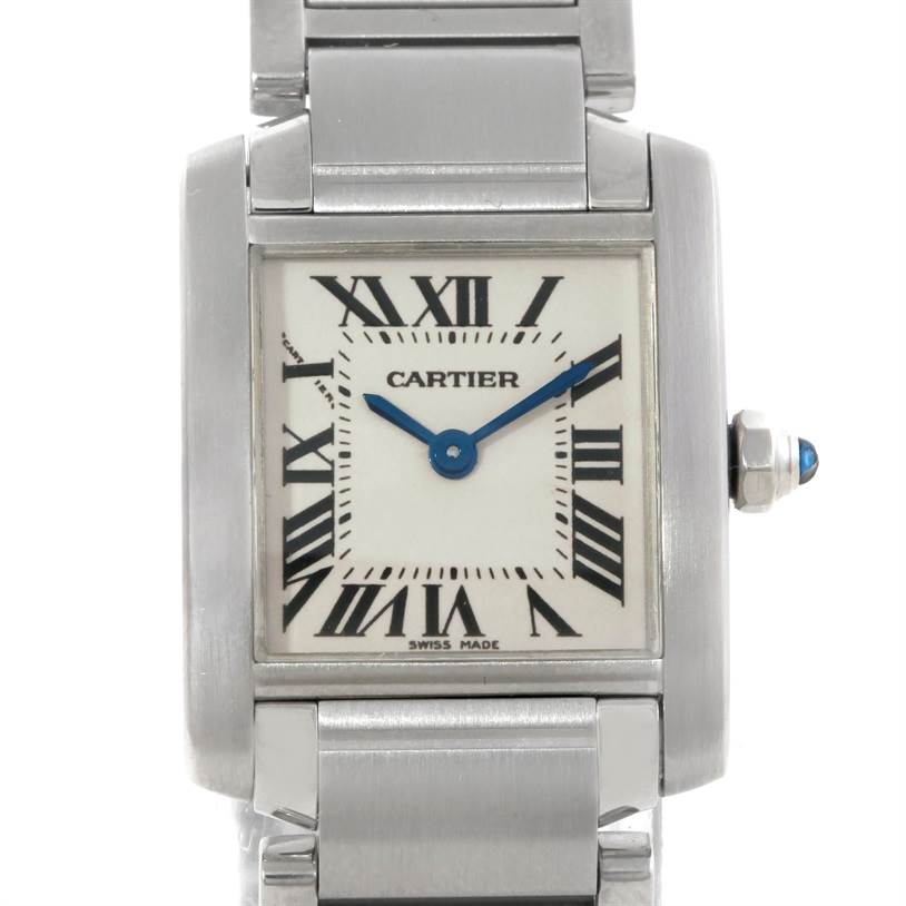 9403 Cartier Tank Francaise Small Stainless Steel Watch W51008Q3 SwissWatchExpo