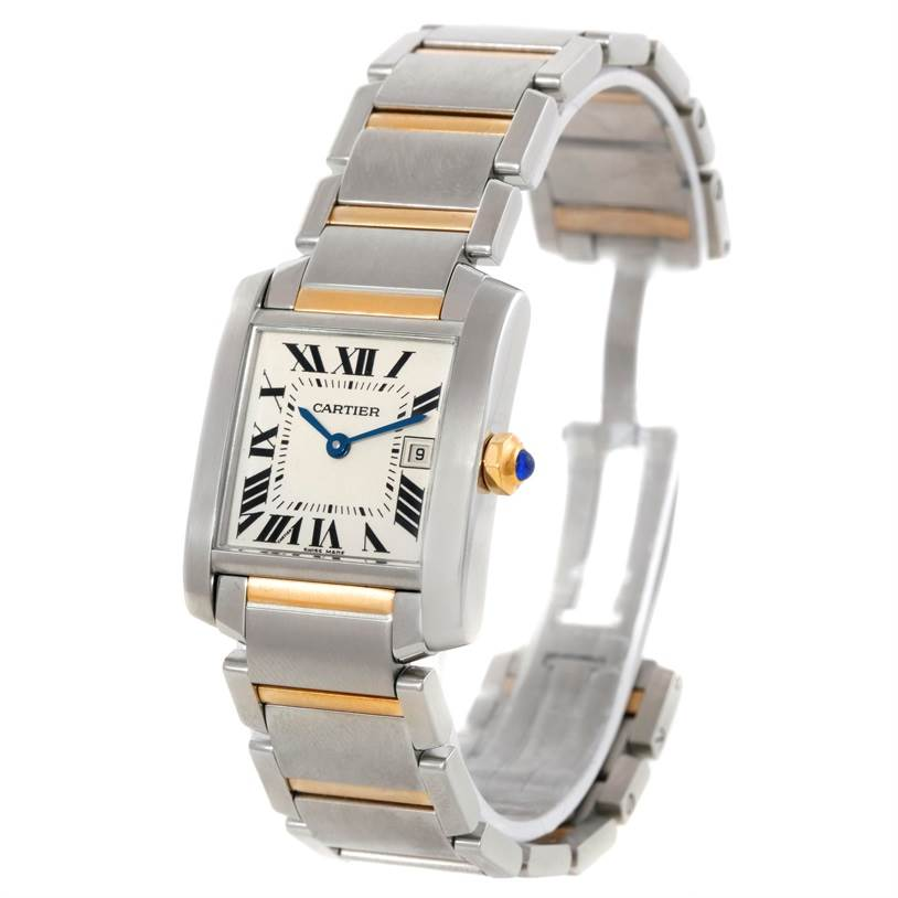 9405 Cartier Tank Francaise Midsize Steel 18k Gold Watch W51012Q4 SwissWatchExpo