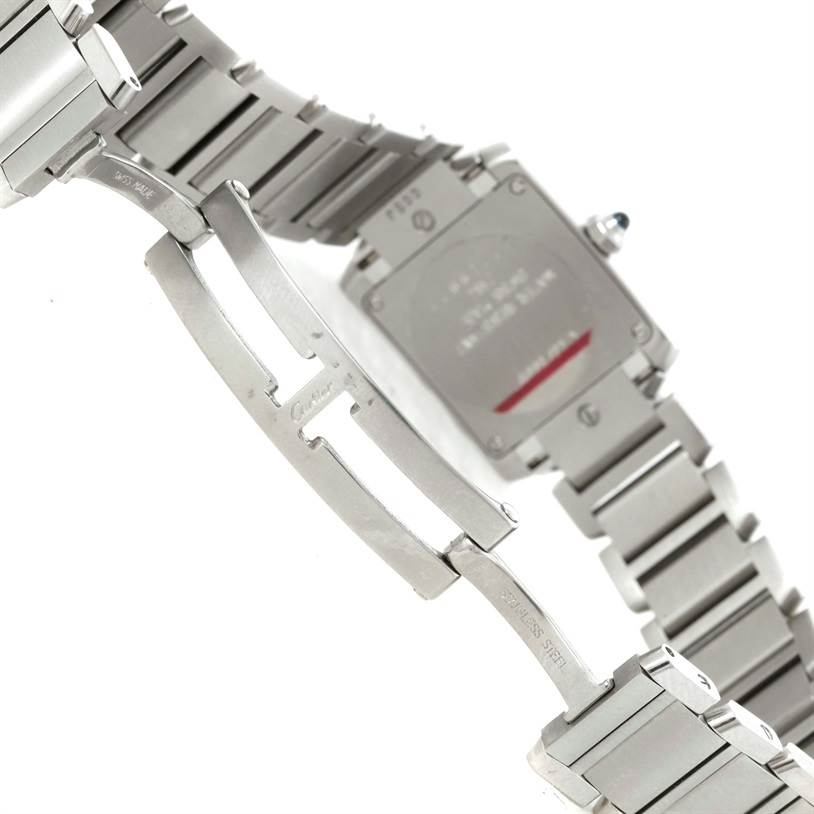 9516 Cartier Tank Francaise Small Stainless Steel Watch W51008Q3 Unworn SwissWatchExpo