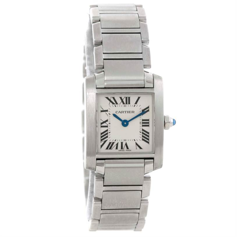 9445 Cartier Tank Francaise Small Stainless Steel Watch W51008Q3 SwissWatchExpo