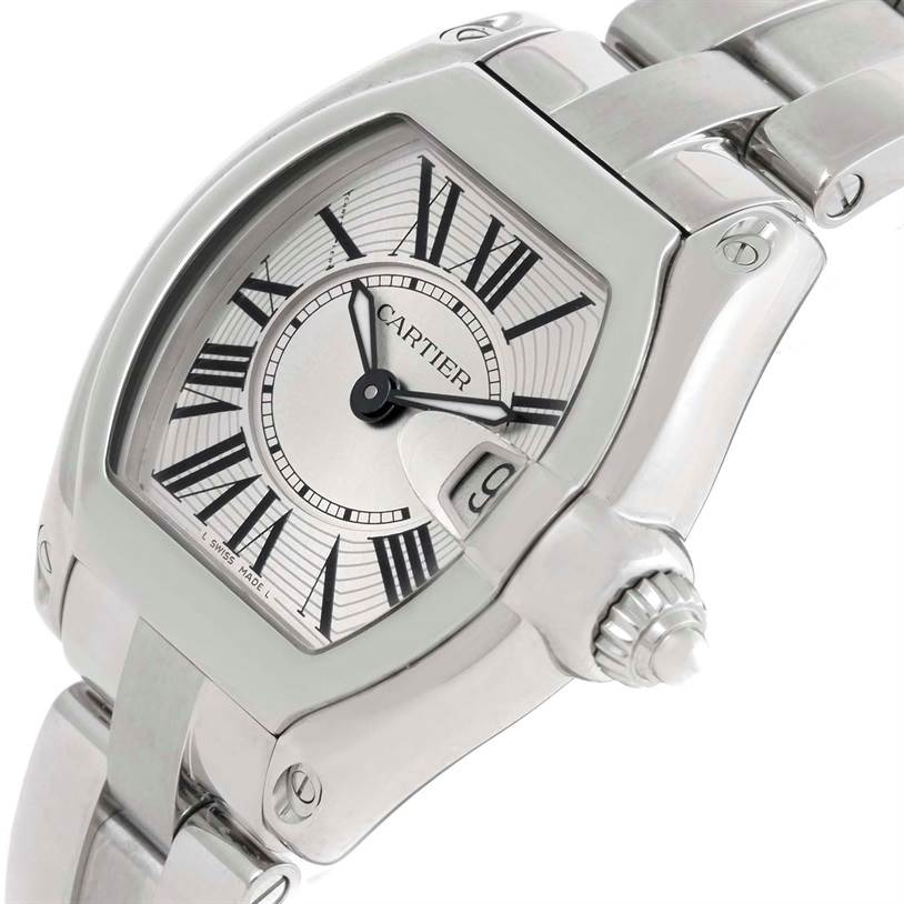 9772 Cartier Roadster Small Silver Dial Ladies Steel Watch W62016V3 SwissWatchExpo