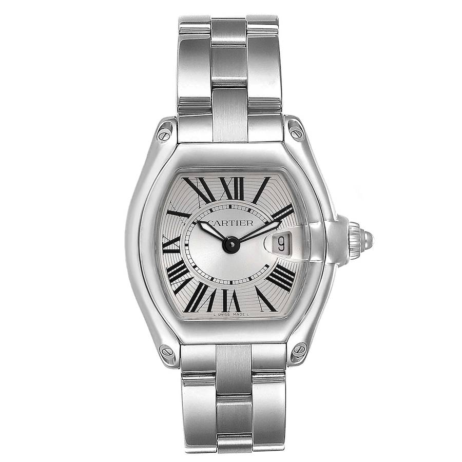 Cartier Roadster Small Silver Dial Ladies Steel Watch W62016V3 SwissWatchExpo