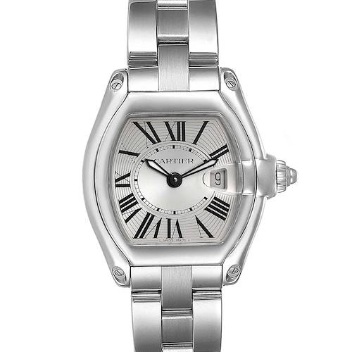 Photo of Cartier Roadster Small Silver Dial Ladies Steel Watch W62016V3