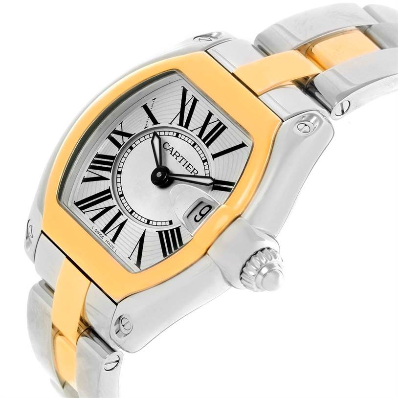 11463 Cartier Roadster Ladies Steel and Yellow Gold Watch W62026Y4 SwissWatchExpo