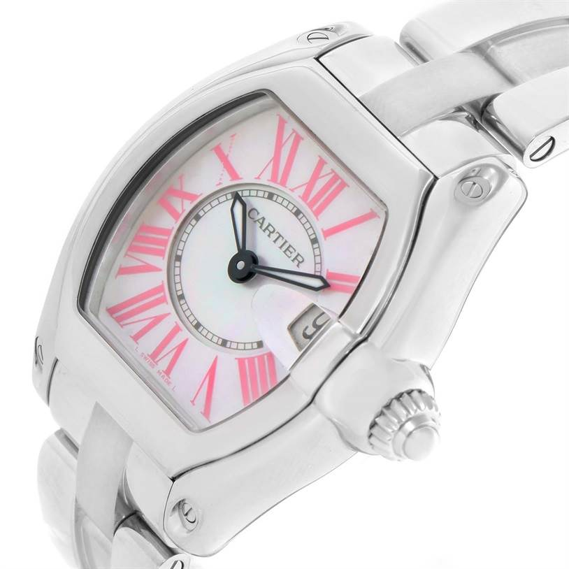 7977 Cartier Roadster Small Mother of Pearl Dial Watch W6206006 SwissWatchExpo