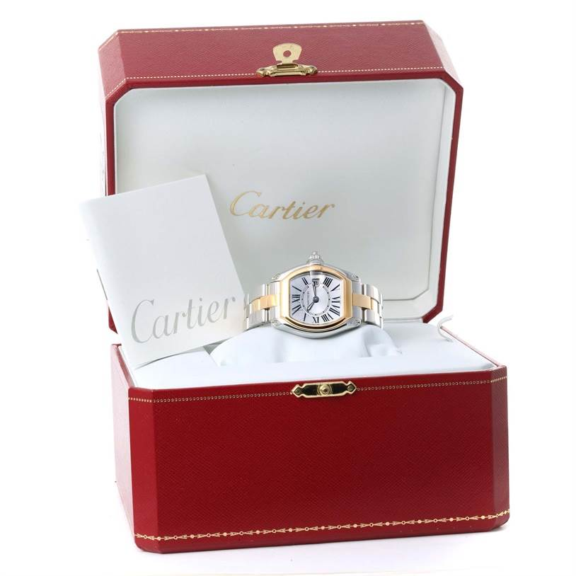 12036 Cartier Roadster Ladies Steel and Yellow Gold Watch W62026Y4 SwissWatchExpo
