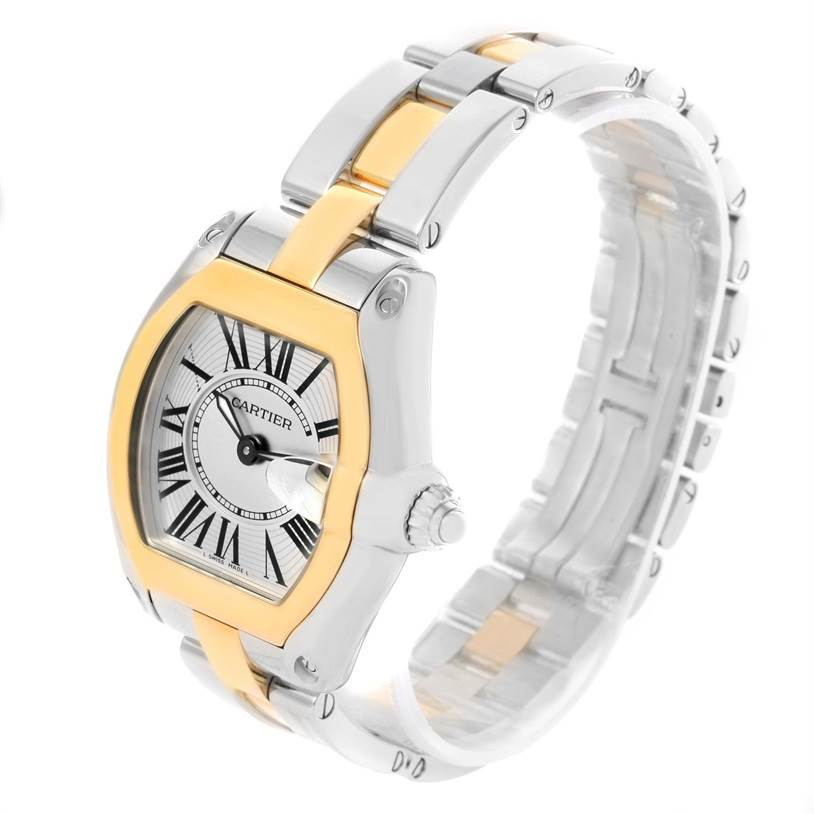 12204 Cartier Roadster Ladies Steel Yellow Gold Quartz Watch W62026Y4 SwissWatchExpo