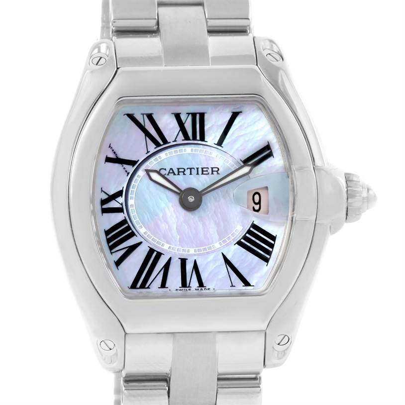 12681 Cartier Roadster Purple Mother of Pearl Dial Ladies Watch W6206007 SwissWatchExpo