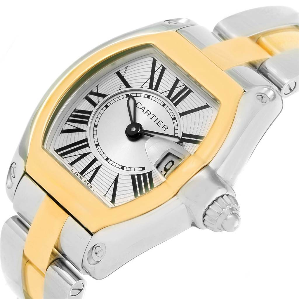 12615 Cartier Roadster Steel Yellow Gold Small Womens Watch W62026Y4 SwissWatchExpo