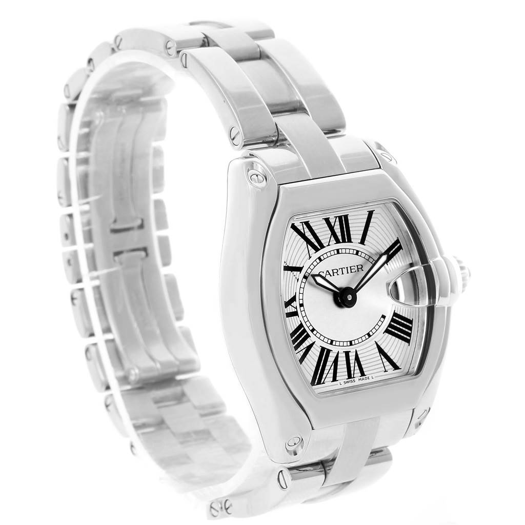 12682 Cartier Roadster Silver Dial Ladies Stainless Steel Watch W62016V3 SwissWatchExpo