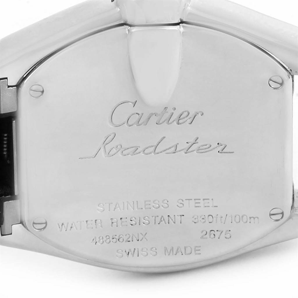 13825 Cartier Roadster MOP Dial Pink Roman Numerals Limited Watch W6206006 SwissWatchExpo