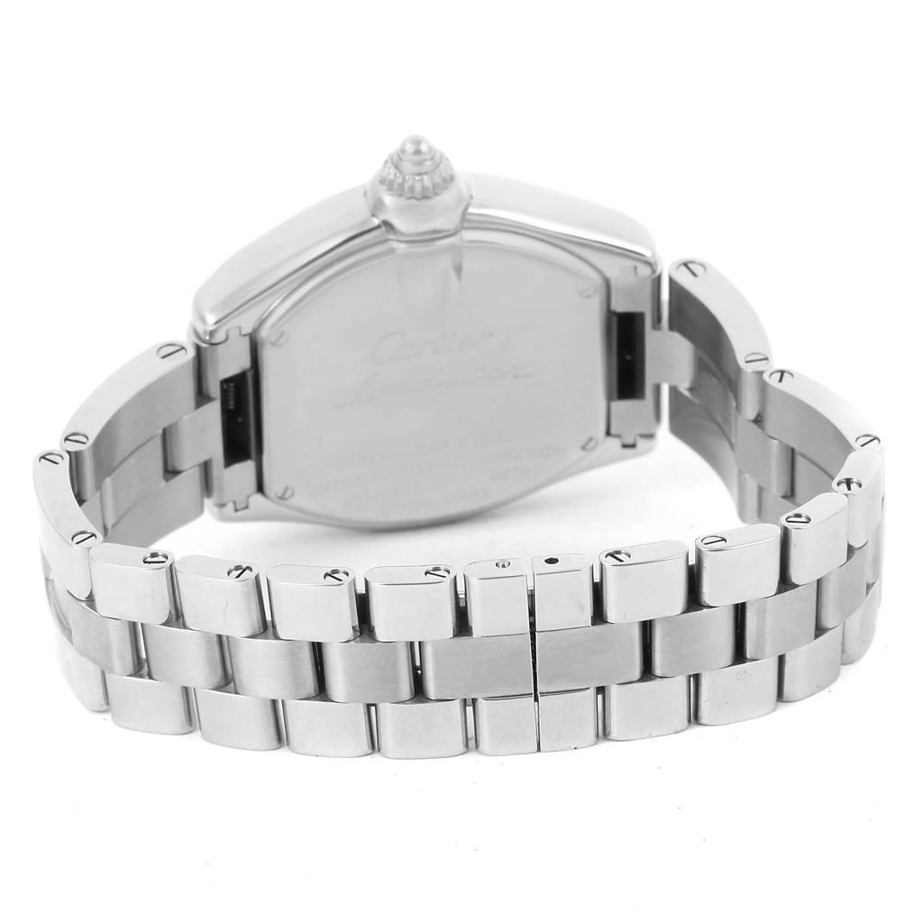 13705 Cartier Roadster Silver Dial Ladies Stainless Steel Watch W62016V3 SwissWatchExpo