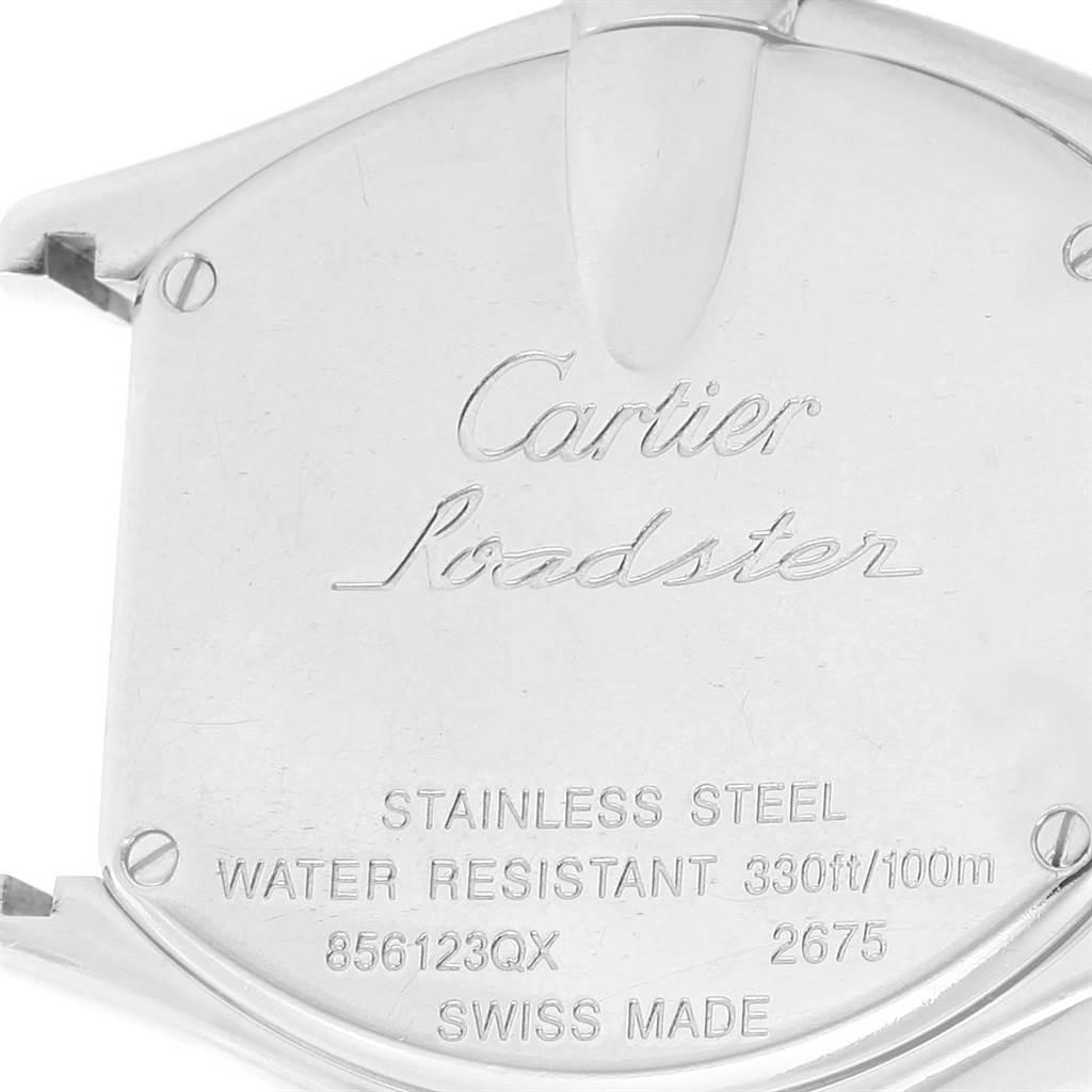 7772 Cartier Roadster Ladies Pink Roman Dial Ladies Watch W62017V3 SwissWatchExpo