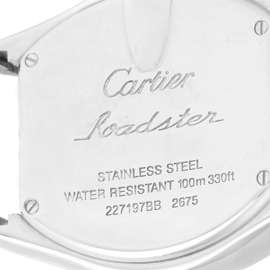 14656 Cartier Roadster Silver Dial Steel Bracelet Women's Watch W62016V3 SwissWatchExpo