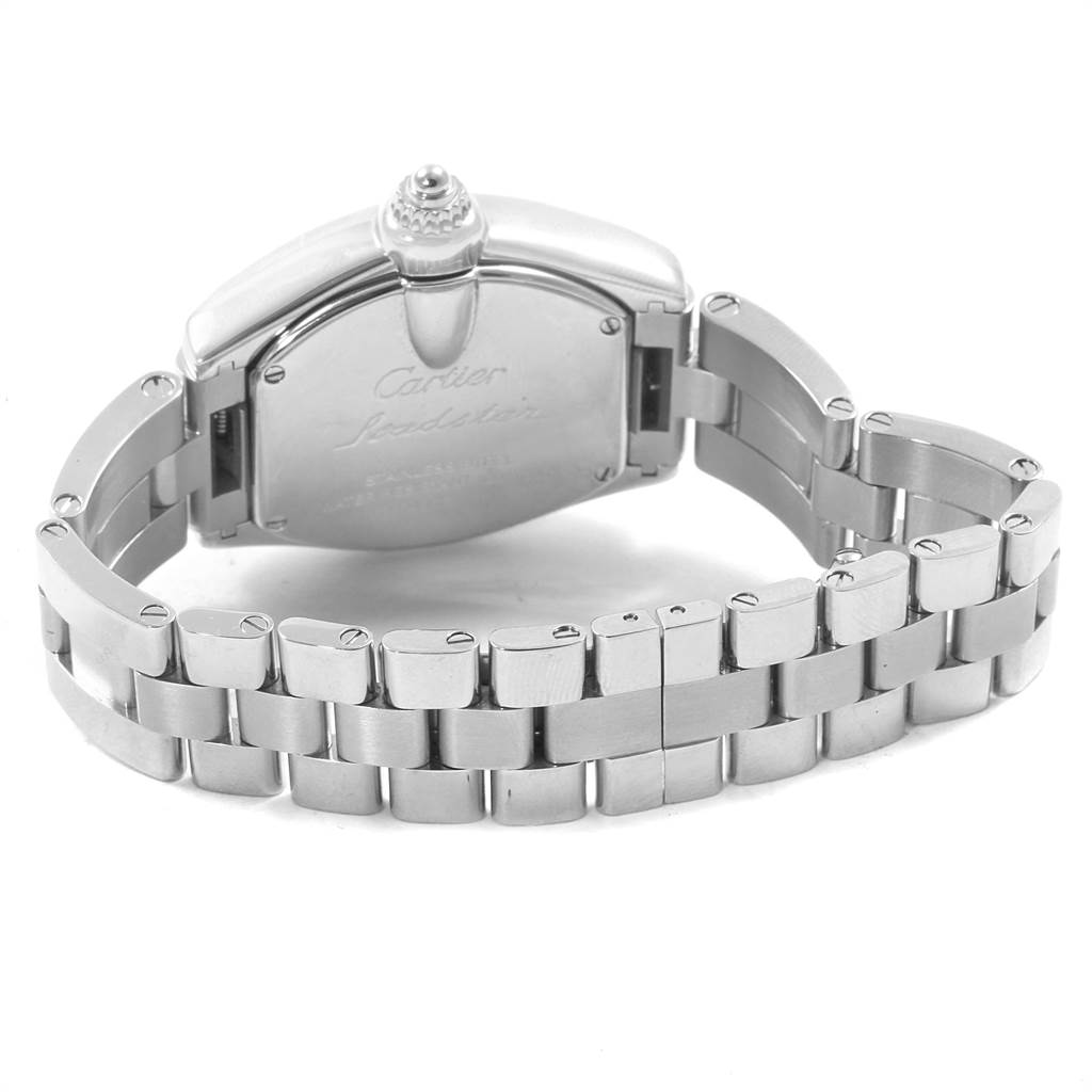 14650 Cartier Roadster Small Silver Dial Steel Womens Watch W62016V3 SwissWatchExpo
