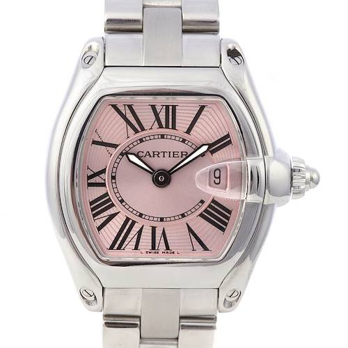 Photo of Cartier Roadster Ladies Pink Dial W62017v3 Two Straps