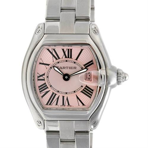 Photo of Cartier Roadster Ladies Pink Dial W62017v3 Extra Strap