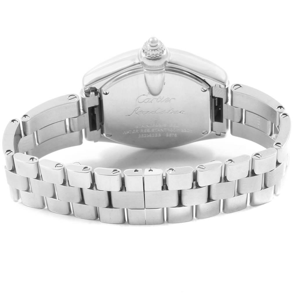 14655 Cartier Roadster Silver Dial Quartz Ladies Watch W62016V3 SwissWatchExpo