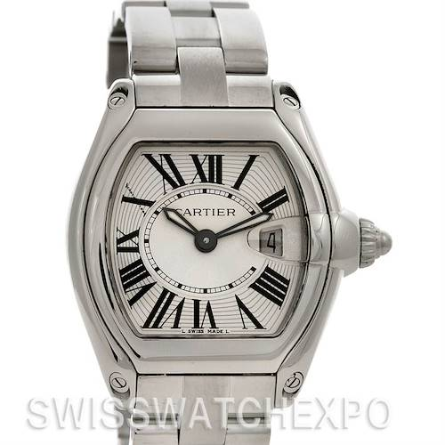 Photo of Cartier Roadster Ladies Silver Dial Steel Watch W62016v3