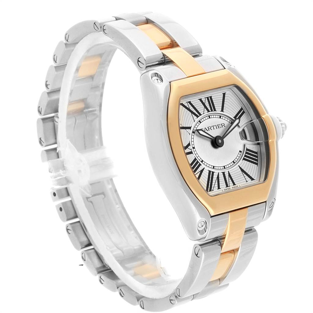 Cartier Roadster Steel Yellow Gold Small Ladies Watch W62026Y4 SwissWatchExpo