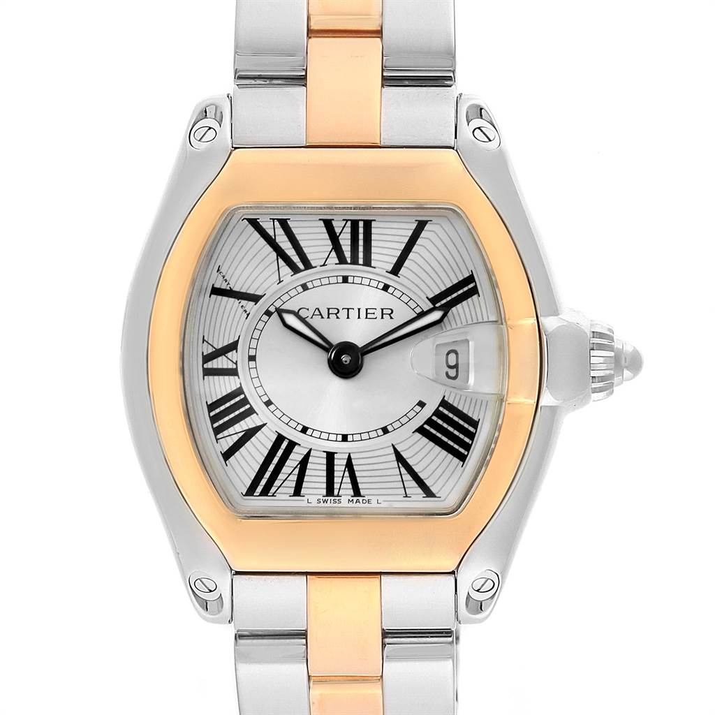 22306 Cartier Roadster Steel Yellow Gold Small Ladies Watch W62026Y4 SwissWatchExpo