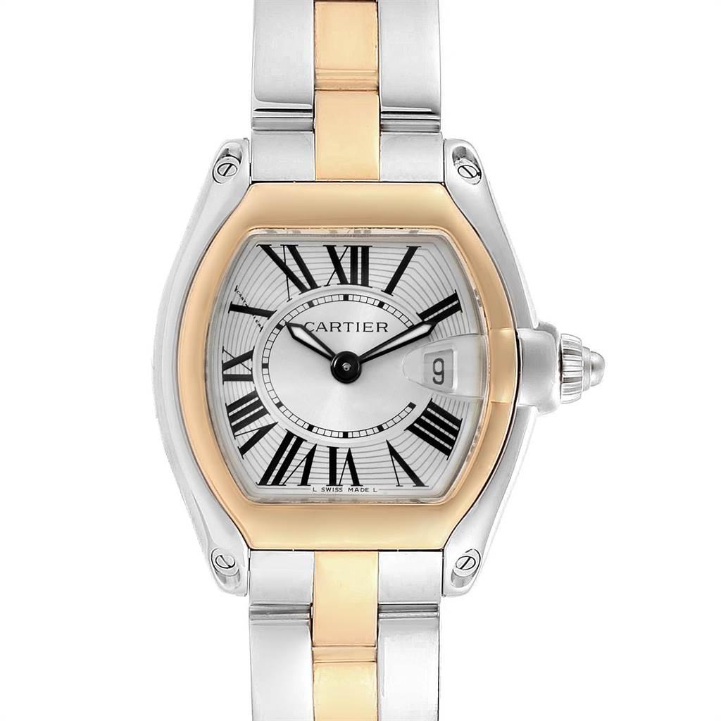 22305 Cartier Roadster Steel 18K Yellow Gold Ladies Watch W62026Y4 SwissWatchExpo
