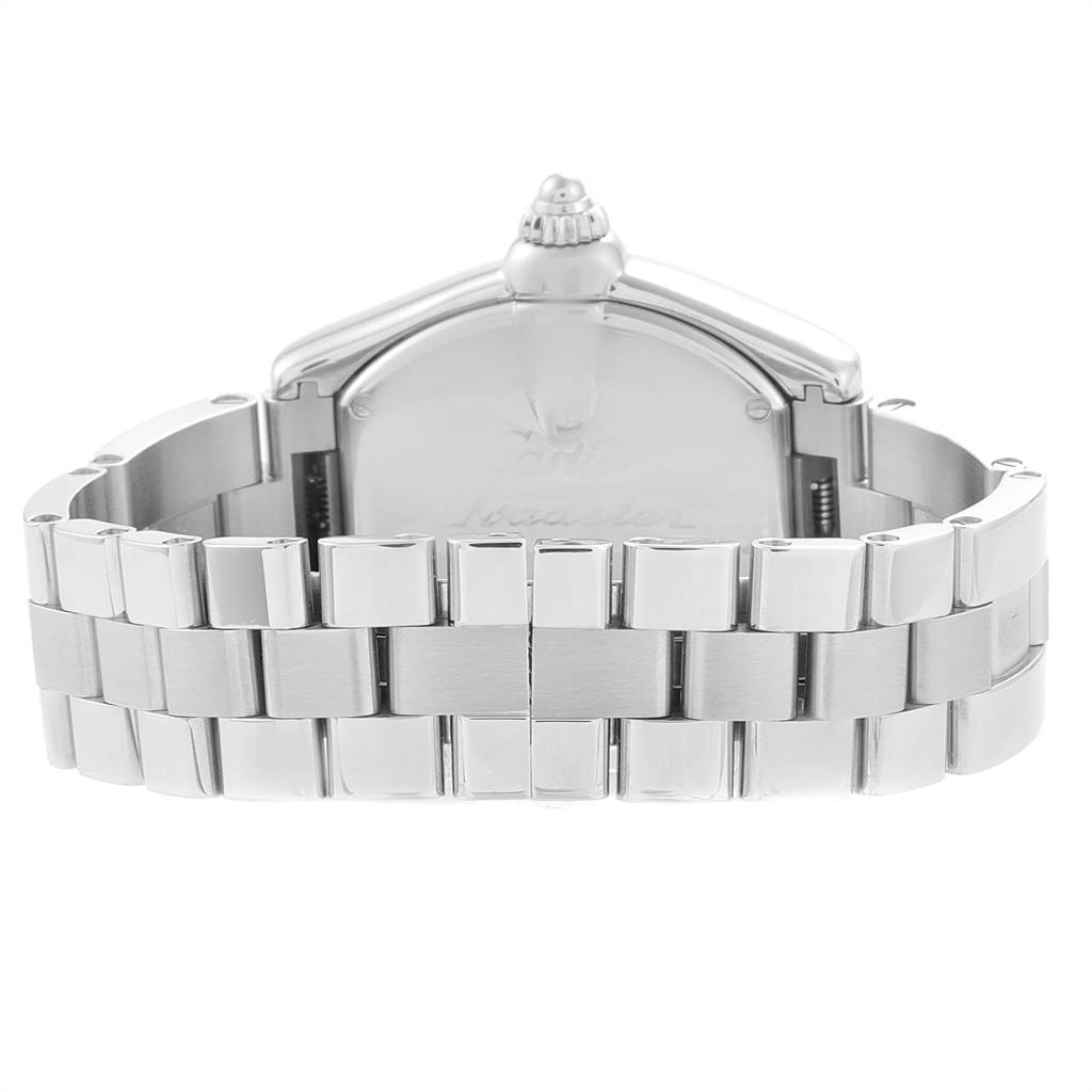 Cartier Roadster Coral Dial Limited Edition Steel Ladies Watch W62054V3 SwissWatchExpo