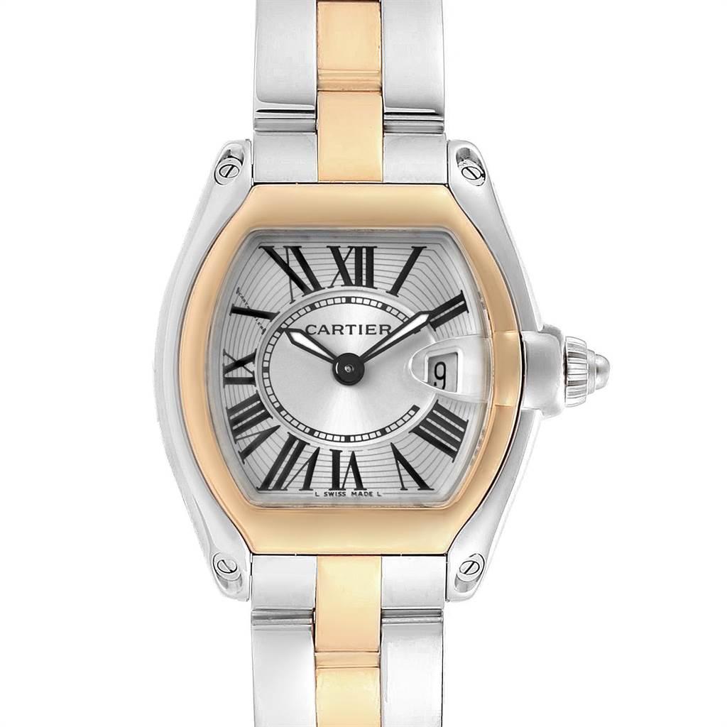 23151 Cartier Roadster Steel 18K Yellow Gold Ladies Watch W62026Y4 SwissWatchExpo