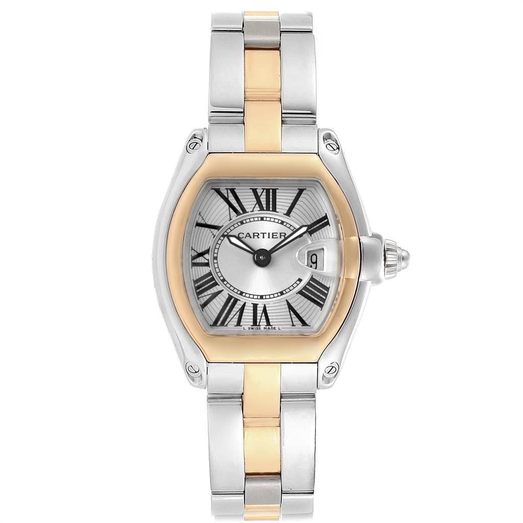 Cartier Roadster Steel 18K Yellow Gold Ladies Watch W62026Y4 SwissWatchExpo