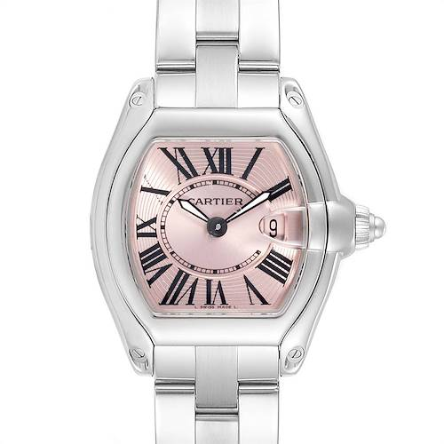 Photo of Cartier Roadster Pink Dial Stainless Steel Ladies Watch W62017V3