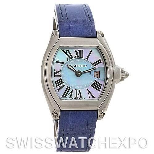 2592 Cartier Roadster Ladies MOP Dial SS Watch W6206007 SwissWatchExpo