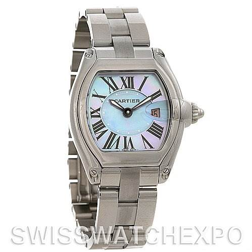 2592 Cartier Roadster Ladies MOP Dial SS Watch W6206007 SwissWatchExpo