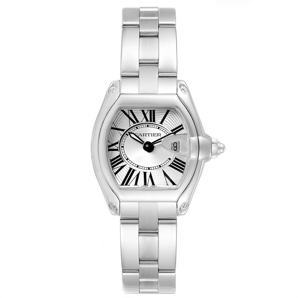 Cartier Roadster Silver Dial Roman Numerals Steel Ladies Watch W62016V3 SwissWatchExpo
