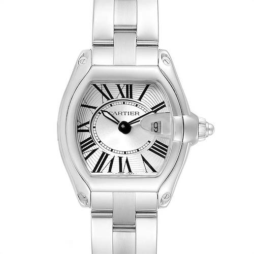 Photo of Cartier Roadster Silver Dial Roman Numerals Steel Ladies Watch W62016V3