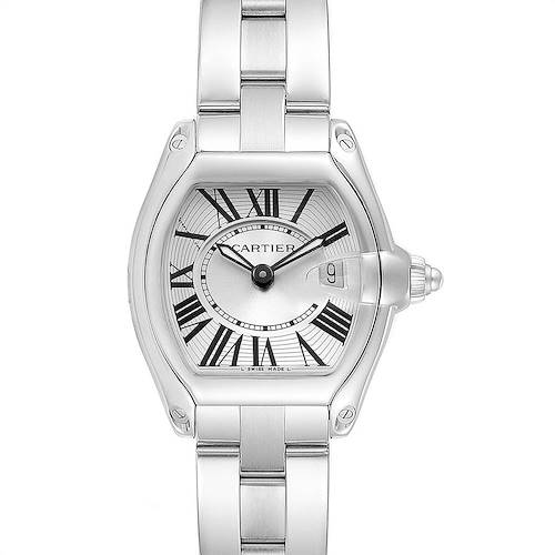 Photo of Cartier Roadster Silver Dial Small Model Steel Ladies Watch W62016V3