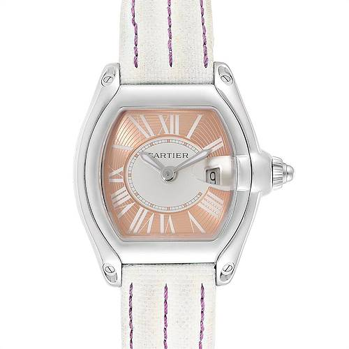 Photo of Cartier Roadster Coral Dial Limited Edition Steel Ladies Watch W62054V3