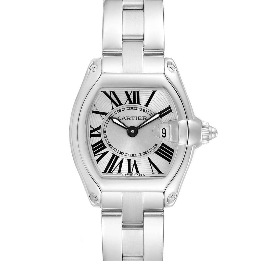 Cartier Roadster Silver Dial Small Model Steel Ladies Watch W62016V3
