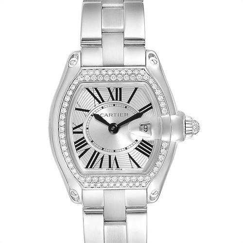 Photo of Cartier Roadster 18K White Gold Diamond Ladies Watch WE5002X2