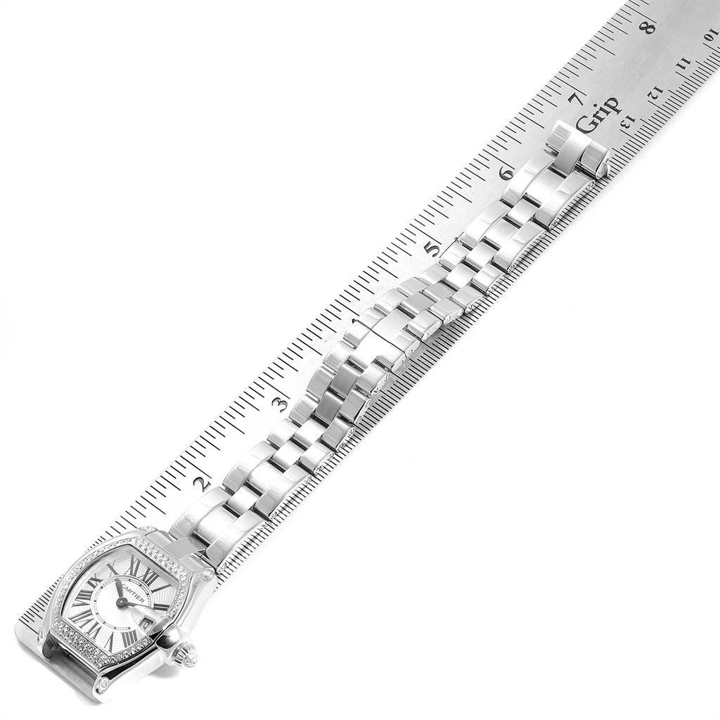 Cartier Roadster White Gold Diamond Ladies Watch WE5002X2 Box Papers SwissWatchExpo