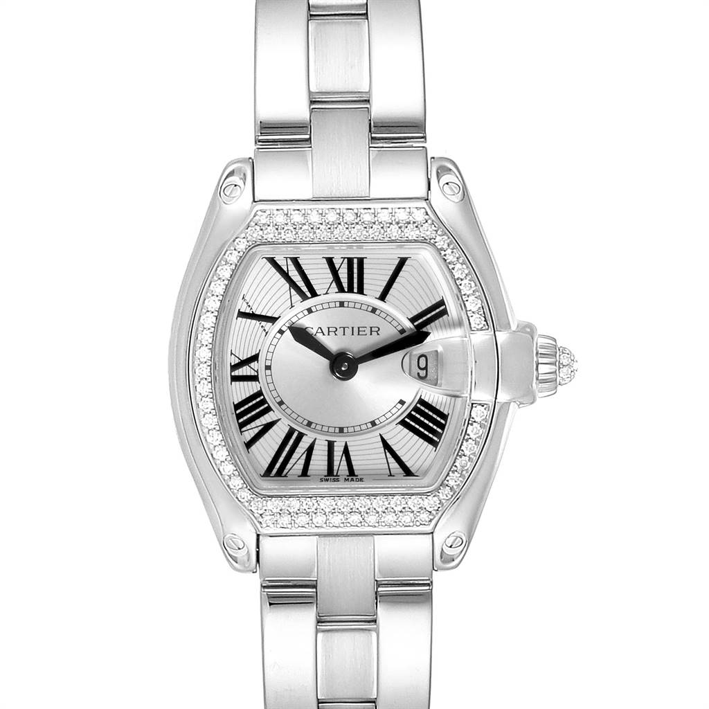 Photo of Cartier Roadster White Gold Diamond Ladies Watch WE5002X2 Box Papers