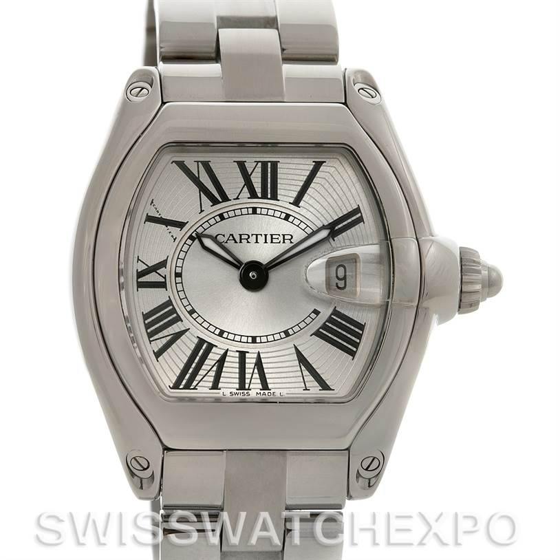 2729 Cartier  Roadster Ladies W62016V3 Box Extra Strap SwissWatchExpo