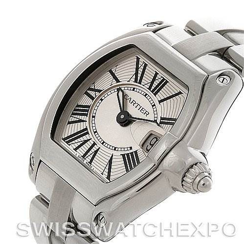 2835 Cartier Roadster Ladies W62016V3 Box Extra Strap SwissWatchExpo