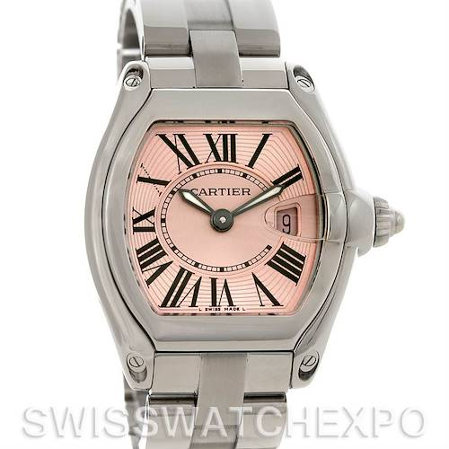 Photo of Cartier Roadster Ladies Pink Dial Watch # W62017V3